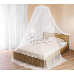 Moskitonetz Fliegennetz Mückenschutz Betthimmel für Doppelbett weiß