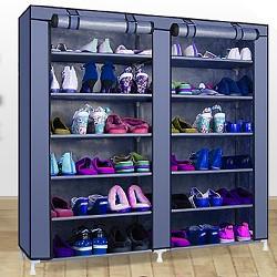 Schuhregal Schuhständer Stahlrohre Schuhschrank Schuhablage 7 Ebenen