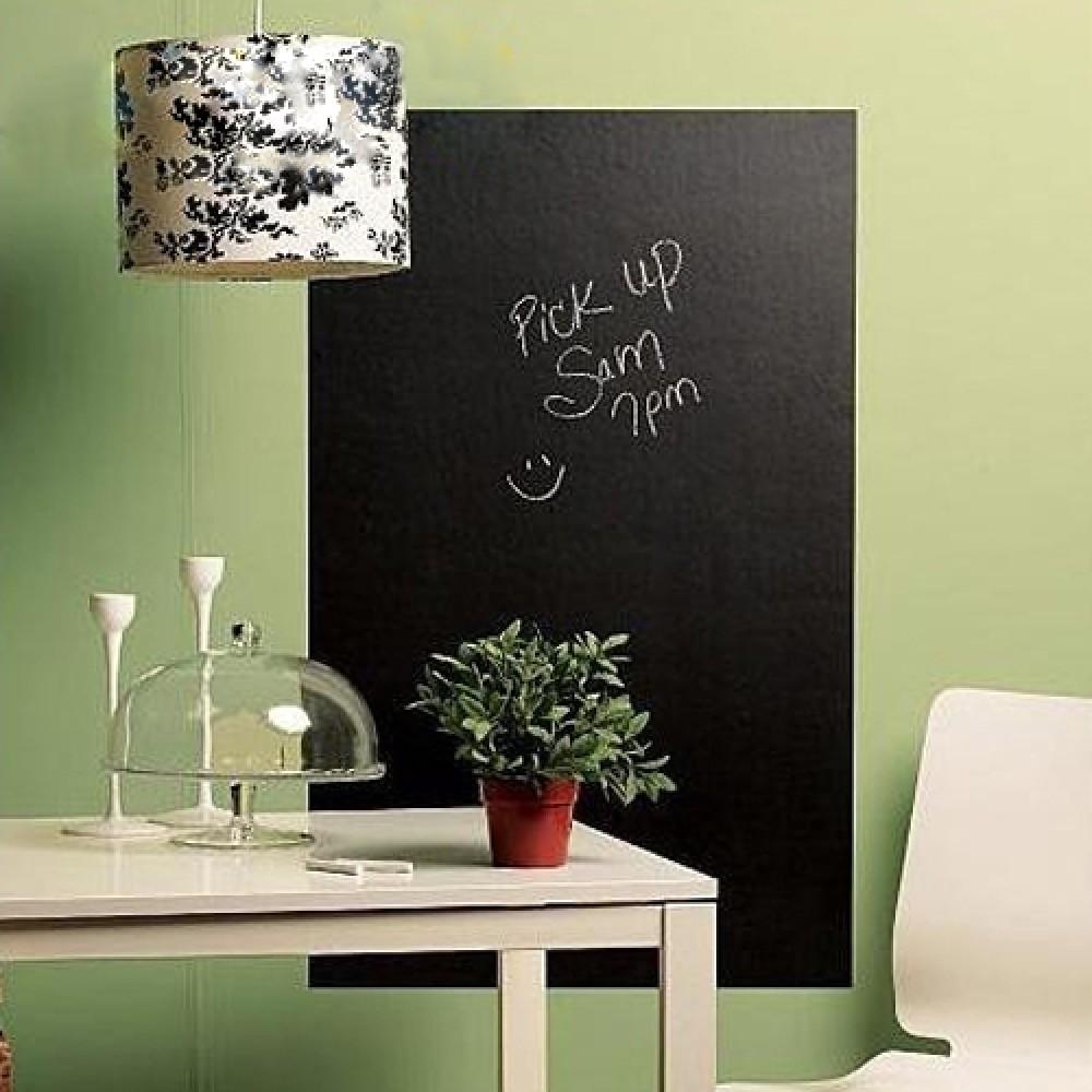 tafelfolie selbstklebende tafel aufkleber schwarz 45x200cm. Black Bedroom Furniture Sets. Home Design Ideas