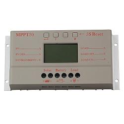 12V/24V 30A LCD Solarpanel Laderegler Solarregler Controller Regulator