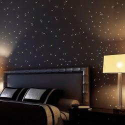 Wandsticker Wandklebe Wandtattoo Leuchtpunkte für Sternenhimmel, 20x10cm