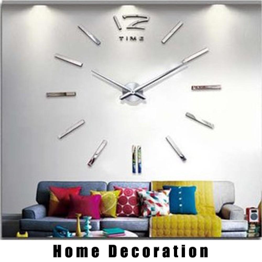 Wandtattoo Uhr Silberne Designer Wanduhr Uhrwerk Wohnzimmer Dekoration.  Klicken Sie Auf Bild Für Galerie