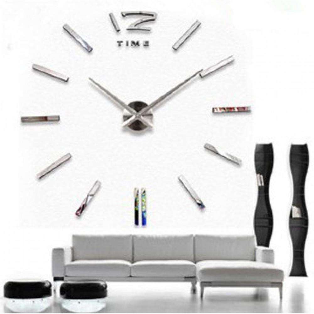 Wandtattoo Uhr Silberne Designer Wanduhr Uhrwerk Wohnzimmer