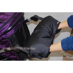Kinderwagenhandschuh Handwärmer f. Schiebegriff Kinderwagen schwarz