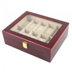 Uhrenbox für 10 Uhren Uhrenkoffer Uhrkasten Uhren Schatulle Etui Safe