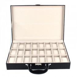 Uhrenbox für 36 Uhren Uhrenkoffer Uhrkasten Uhren Schatulle Etui Safe