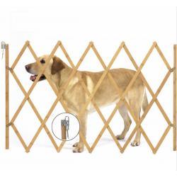 Hundeabsperrgitter Hundegatter Treppenschutzgitter Holz 82 x 108 cm