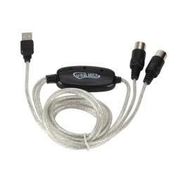 USB zu auf Midi Kabel Keyboard an PC Laptop Adapter für Win 7, XP