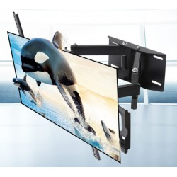 LCD TV Fernseher Wandhalterung Wandhalter Schwenkbar Neigbar Schwarz