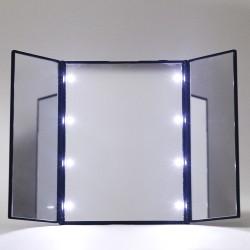 Kosmetikspiegel Schminkspiegel mit 8 LED Beleuchtung und Touchscreen
