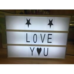 LED Lichtbox Leuchtkasten 22 x 30cm Buchstaben Lichtkasten Leuchtende