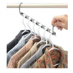 Kleiderbügelhalter Kleiderhaken Platzsparend Raumsparbügel 6 Stück