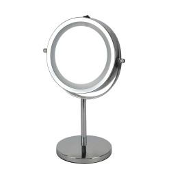 Kosmetikspiegel Standspiegel Rasierspiegel 16 LED Beleuchtung  5 fach