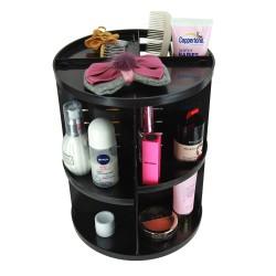 Aufbewahrungsbox Kosmetik Organizer 7 Verstellbare Ebenen schwarz