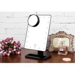Tischspiegel Kosmetikspiegel mit 10x Vergrößerungsfleck Spiegel 20LED