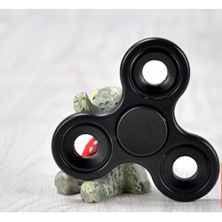 Finger Hand Fidget Spinner Toy Stress Reducer f. Erwachse ABS schwarz