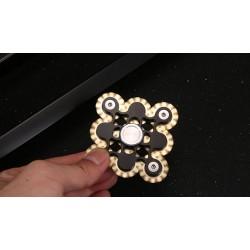 Alu 9 Gänge Fidget Linkage Finger Handspinner für Stressabbau schwarz