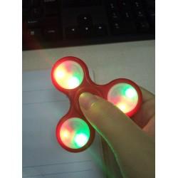 Fidget LED Finger Spinner Pocket Kreisel leuchtende 3 Modus rot