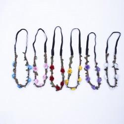 Blumen Stirnbänder Kranz Hochzeit Blumenkrone Haarband für Frauen 6pcs