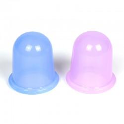 Silikon Schröpfen Zwei farbige Massage Saugglocken Körper Cups