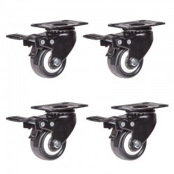 Lenkrollen Drehstuhlrollen Schwenkrollen Transportrollen mit Bremse 4x