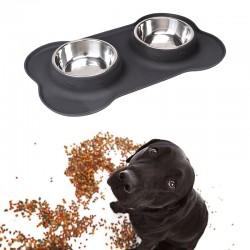 Fressnapf Doppelnapf Futternapf Futterbar für Hunde und Katzen 700ml