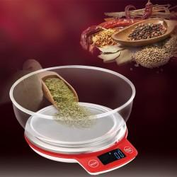 Küchenwaage Digitalwaage Rot 3kg/ 0.1g mit LCD-Anzeige Tara-Funktion