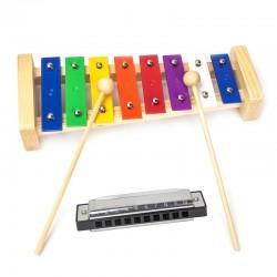 Holz Xylophon Musikinstrumente Xylophon Kinderspielzeug Mundharmonika