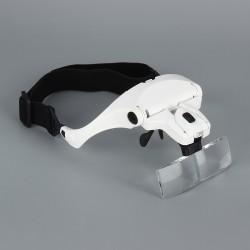 Lupenbrille Kopfband Lupen Standlupe Stirnband Lupe mit 2 LED lichts