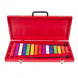 Aluminiumplatten Spielzeug Xylophon Musikinstrumente mit Schläger 15-Ton