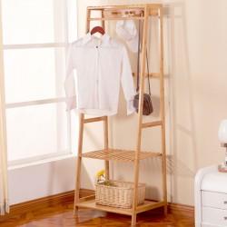 Bambus Kleiderständer Garderobenständer Kleiderstange mit Schuhregal