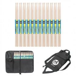 Drumsticks Set 7A Drumstick mit Tasche Schlagzeug Zubehör 12 Paar