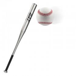 Baseballschläger aus Alu 34Zoll 86cm Baseball Bat mit Griff silber