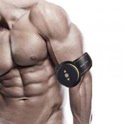 Bauchmuskeltrainer Trainingsgerät Muskelstimulator Pads f. Arm Schwarz