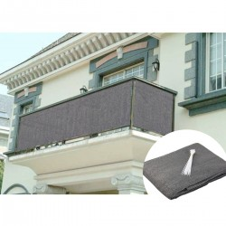 Balkonbespannung Balkonverkleidung Sichtschutz UV Schutz 90x500cm grau