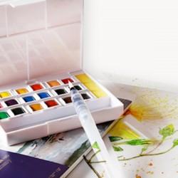 Aquarellfarben Wasserfarben Set 24 Farben mit Fülfederhalter
