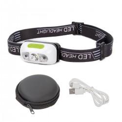 LED Stirnlampe Kopflampe Wasserdicht USB Wiederaufladbar 4 Leuchtmodi