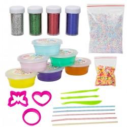 DIY Slime 6 Pack Crystal Clay Schleim Kit Plasticine Spielzeug f. Kind
