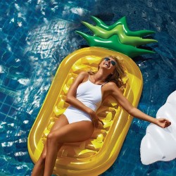 Schwebebett Schwimminsel Ananas Pool Sofa mit Schnell Ventilen 190cm