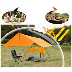 Sonnensegel Strandschirm Sonnenschutz Zelt Strandzelt 3x4m orange