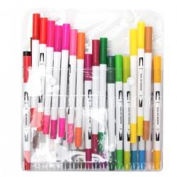 Buntstifte Aquarellstifte Pinselstift mit zwei Spitzen Set 36 Farben