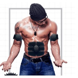 Bauchmuskeltrainer Massagegerät Muskelaufbau Muskelstimulator schwarz