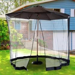 Moskitonetz Fliegengitter Insektenschutz für Sonnenschirm 310 x 240 cm
