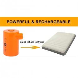 Luftpumpe USB wiederaufladbare Pumpe für Luft Betten Matratzen orange