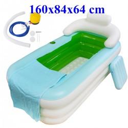 Bathtub Badewanne Relax Pool mit Luftpumpe Erwachsene Plastik weiss