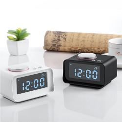 Radiowecker Uhrenradio LCD Digital Wecker FM Dual Alarm Schwarz