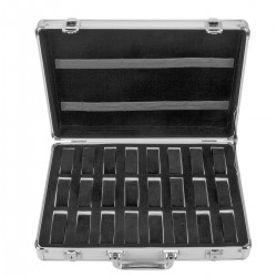 Uhrenkoffer Uhrenbox Schmuckkoffer Uhrenkasten f. 24 Uhren Aluminum