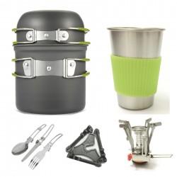 Kochgeschirr Campinggeschirr 11in1 Kochset Picknick Kochen Werkzeug