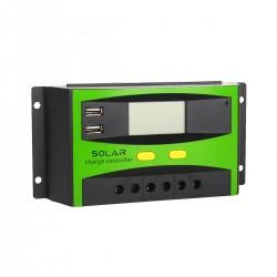 Solar Laderegler Panel Regler Stromanzeige mit LCD Display PWM 30A