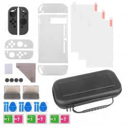 Nintendo Hülle Switch Tasche Game Card Silikon Joy-Con Tasche 11 in 1
